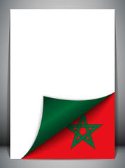 Morocco Country Flag Turning Page