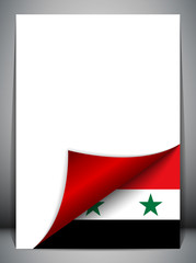 Syria Country Flag Turning Page
