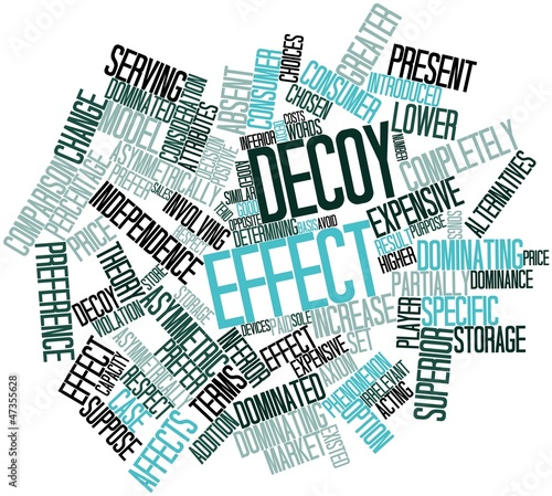Word cloud for Decoy effect