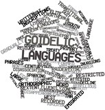 Word cloud for Goidelic languages