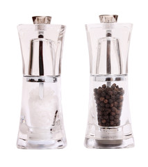salt and pepper shaker mills isolated on white