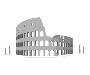 Silhouette of Colosseum