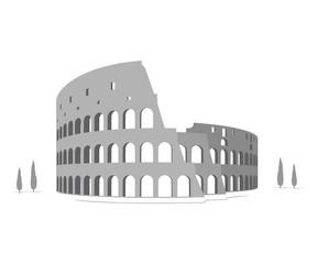 Silhouette of Colosseum
