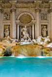 The famous Trevi Fountain at night, Rome, Italy