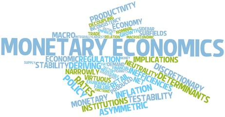 Word cloud for Monetary economics