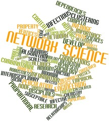Word cloud for Network science