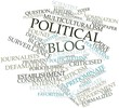 Word cloud for Political blog
