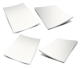 Empty white magazine on white