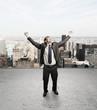 happines businessman
