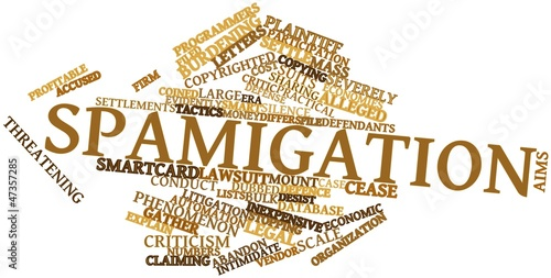 Word cloud for Spamigation