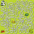Panda Maze Game ... solution in hidden layer
