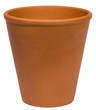 Empty clay plant pot