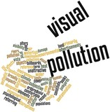 Word cloud for Visual pollution
