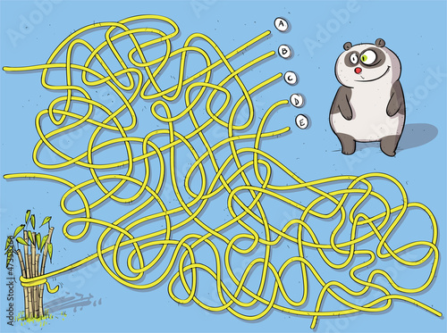 Sticker Panda Maze Game ... solution: B