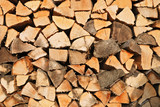 Woodpile stack of logs poster