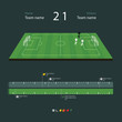 Soccer field with set of infographic elements