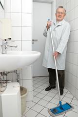 Cleaning Grandpa
