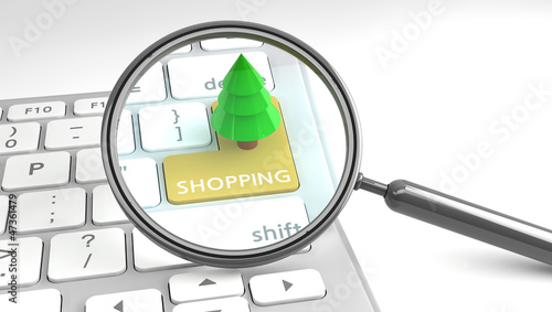 Christmas Shopping online concept