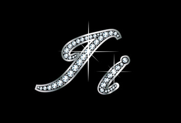 Script Diamond Bling Ii Letters