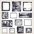 Set of different grunge frames vector