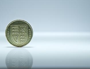 Single UK Pound Coin