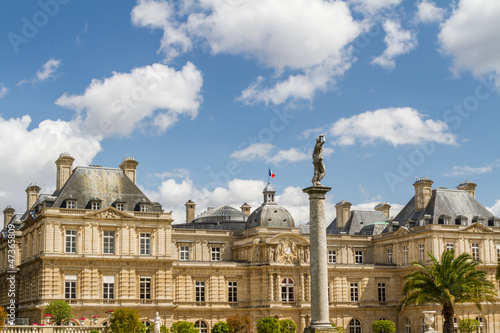 Facade of the Luxembourg Palace (Palais de Luxembourg) in Paris,