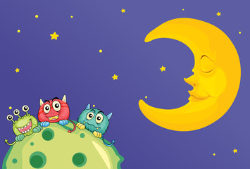monsters and a moon