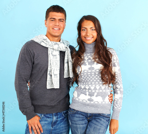 Couple in pullovers