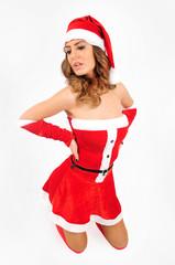 Young christmas girl