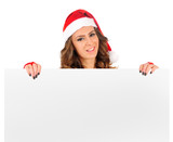 Isolated young christmas woman