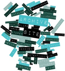 Word cloud for Archive site