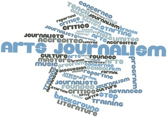 Word cloud for Arts journalism