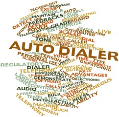 Word cloud for Auto dialer