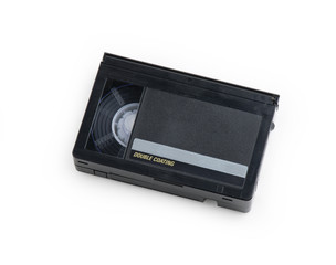 Old VHS Video Cassette tape isolated