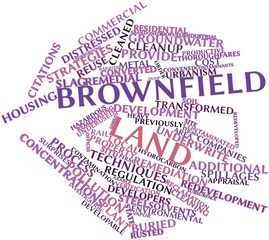 Word cloud for Brownfield land