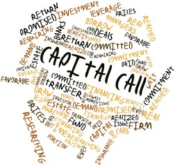 Word cloud for Capital call
