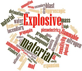 Word cloud for Explosive material