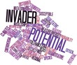 Word cloud for Invader potential