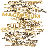 Word cloud for Magnesium sulfate