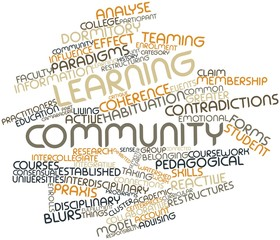 Word cloud for Learning community