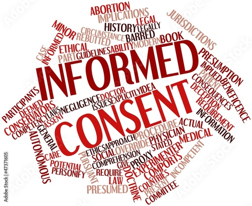 Word cloud for Informed consent