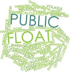 Word cloud for Public float