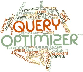 Word cloud for Query optimizer