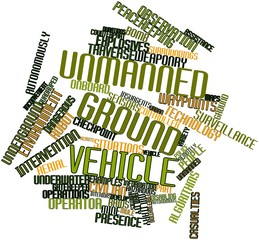 Word cloud for Unmanned ground vehicle