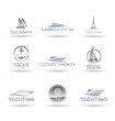 Set of  nautical  icons. Yachts and sailboats. Vol 1.