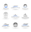 Set of  nautical  icons. Yachts and sailboats. Vol 2.