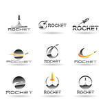 Set of rockets. Vector rocket. Vol 1.