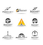 Fototapety Set of rockets. Vector rocket. Vol 2.