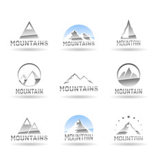 Mountain icons set. Vol 2.