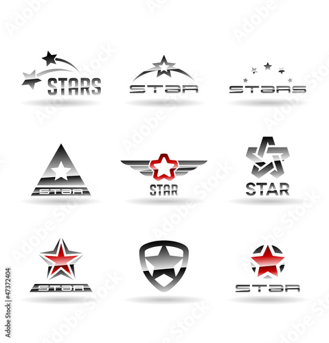 Set of vector stars. Star icons. Vol 1.